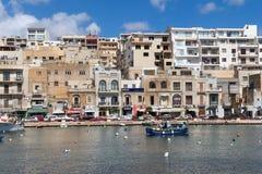 城市Marsascala,海岛马耳他, 2016年5月02日 免版税图库摄影