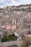 城市modica西西里岛 免版税库存照片
