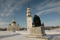 城市Nevyansk。Demidov的前庄园。 免版税库存照片