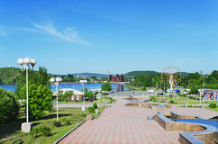 城市Nizhny Tagil的视域 免版税图库摄影