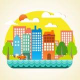 城市origami 免版税图库摄影