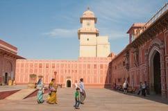城市Palace.Jaipur,拉贾斯坦 斋浦尔,印度 免版税库存图片