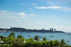 城市pattaya沿海岸区 图库摄影