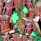 城市pattern1 免版税库存照片