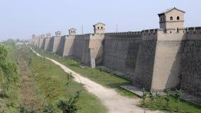 城市pingyao墙壁 库存图片