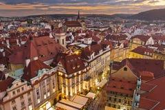 城市Pragua在捷克 免版税图库摄影