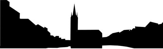 城市presov地平线向量 库存图片