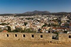 城市Rethymnon克利特 库存照片