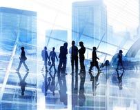城市Scape企业队配合会议合作概念 库存图片