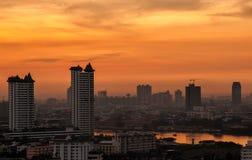 城市Scape在曼谷 免版税库存图片