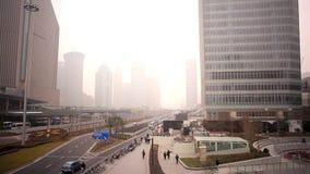 城市Scape雾 股票视频