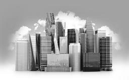 城市scape,摩天大楼 皇族释放例证
