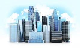 城市scape,摩天大楼 向量例证