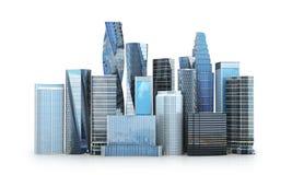 城市scape,摩天大楼 库存例证