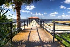 城市sebring佛罗里达的码头 图库摄影