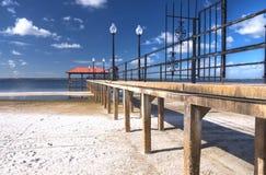 城市sebring佛罗里达的码头 免版税图库摄影