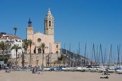 城市sitges西班牙 免版税库存照片