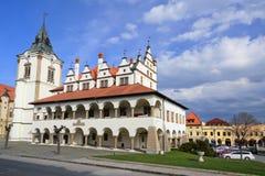 城市townhall在Levocha 库存照片