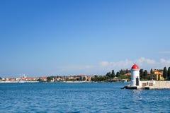 城市zadar克罗地亚的港口 免版税库存图片