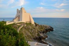城楼在Sperlonga,意大利 免版税库存照片