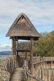 城楼被修造在一条木木板走道 免版税库存照片