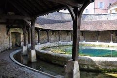 城河法国tonnerre 免版税库存图片