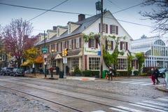 费城的郊区秋天的 库存照片
