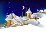 城镇冬天 免版税库存图片