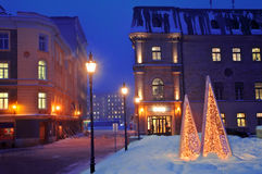 城镇冬天 图库摄影