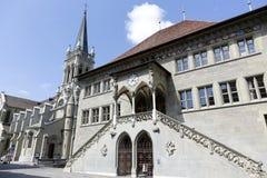城镇厅在伯尔尼在瑞士 免版税库存图片