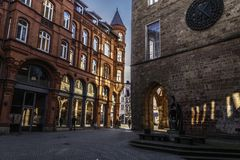 城镇厅在城市明登 免版税库存图片