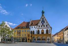 城镇厅在安伯格,德国 免版税图库摄影