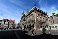 城镇厅在布里曼,德国 库存图片