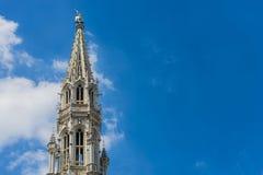 城镇厅在布鲁塞尔,比利时 库存照片