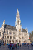 城镇厅在布鲁塞尔,比利时 免版税库存照片
