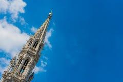 城镇厅在布鲁塞尔,比利时 库存图片