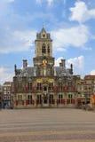 城镇厅在德尔福特,荷兰 库存照片