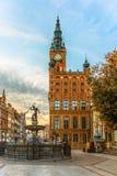 城镇厅在格但斯克,波兰 免版税库存照片