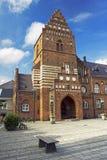 城镇厅在罗斯基勒 库存照片