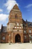 城镇厅在罗斯基勒 免版税库存图片