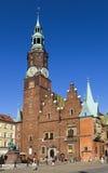 城镇厅在集市广场在弗罗茨瓦夫 图库摄影