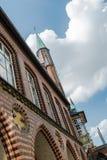 城镇厅在Luebeck,德国 免版税库存图片