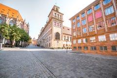 城镇厅在Nurnberg,德国 库存图片