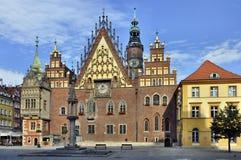 城镇厅在Wroclaw,波兰 免版税库存图片