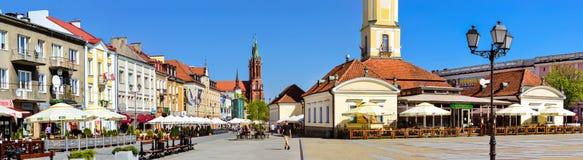 城镇厅塔在Bialystok,波兰 库存图片