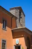 城镇厅大厦。蒙泰菲亚斯科内。拉齐奥。意大利。 免版税库存图片