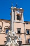 城镇厅大厦。 Tarquinia。 拉齐奥。 意大利。 免版税库存图片