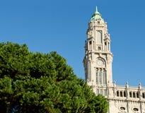 城镇厅大厦, Camara自治都市做波尔图, Liberdade广场的 波尔图葡萄牙 免版税库存照片