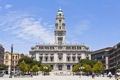 城镇厅大厦(Camara自治都市)在波尔图,葡萄牙 库存图片