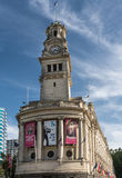城镇厅尖沙咀钟楼Aotea的Squrae街市奥克兰 库存照片